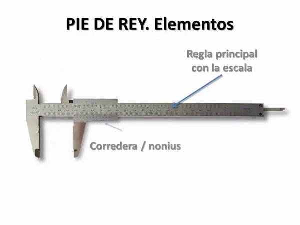 Medición de longitudes con Pie de Rey