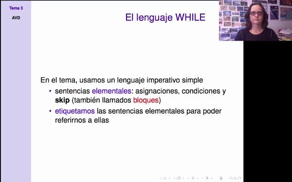 AVD: El lenguaje WHILE