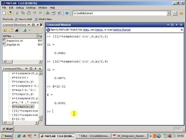 Tema 4. Integración numérica. Algoritmo trapiter.