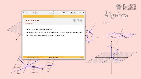 Determinants: Definició, càlcul i primeres propietats