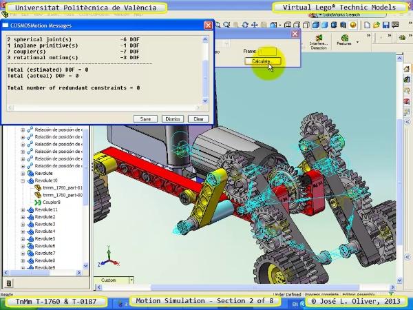 Simulación Dinámica Lego Technic T-0187 sobre Base -D- 2 de 8
