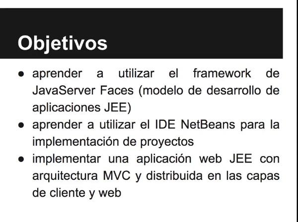 Implementación de una aplicación web simple con JSF y patrón MVC