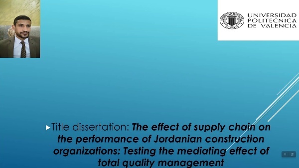 Supply chain management in The Jordanian construction sector