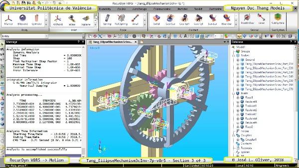 Simulación Cinemática Tang_EllipseMechanism3cInv-7p-v8r5 con Recurdyn - EngTa - 3 de 3