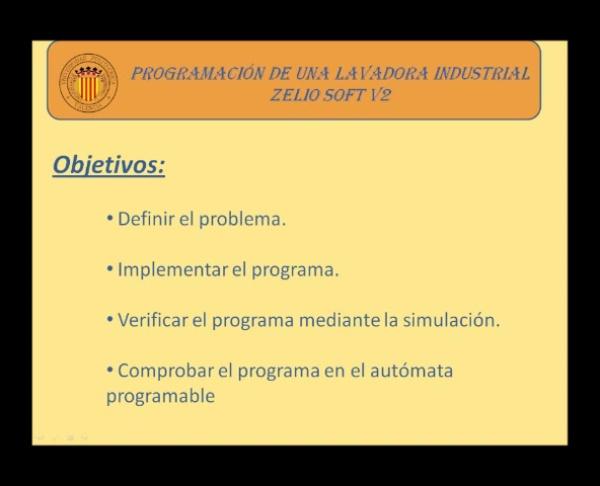 Programación de una Lavadora Industrial en BDF