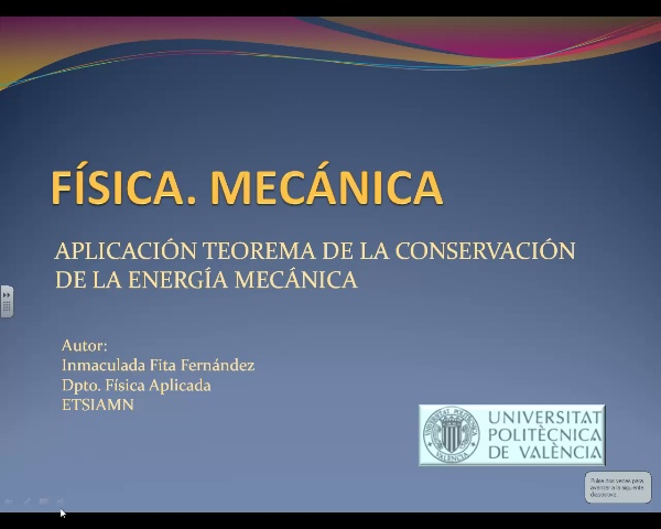 Aplicación de conservación de la energía mecánica
