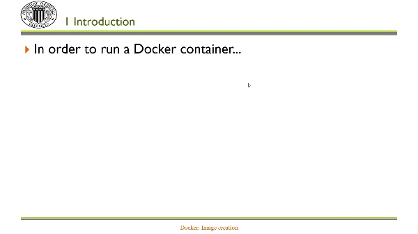 Docker: Image creation