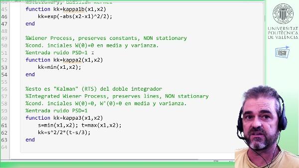 Estimación (interpolación) con procesos no estacionarios: Wiener, Integrated Wiener (ejemplo Matlab)