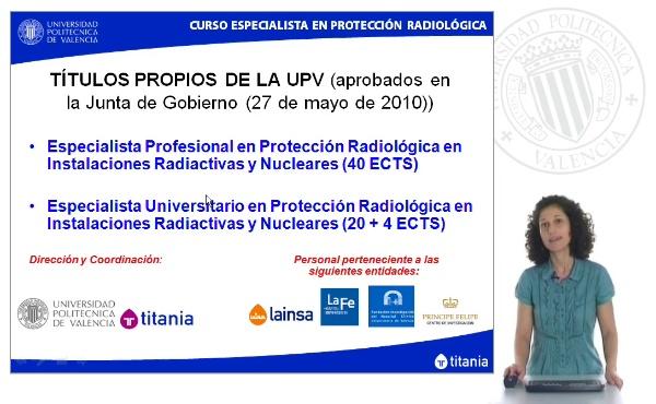 Presentación Nuevo Título Especialista en Protección Radiológica en Instalaciones Radiactivas y Nucleares