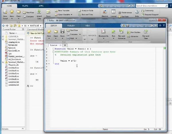 MN-DE-04 Crear una Función en Mat Lab