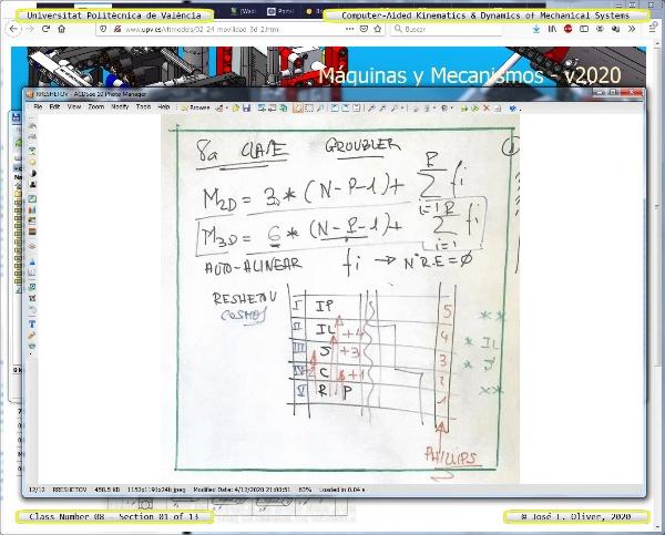 Mecánica y Teoría de Mecanismos ¿ 2020 ¿ MM - Clase 08 ¿ Tramo 01 de 13