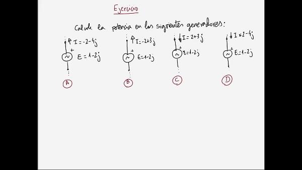 Teoría de Circuitos 1. Lección 6. 2-3 Ejercicio potencia en generadores