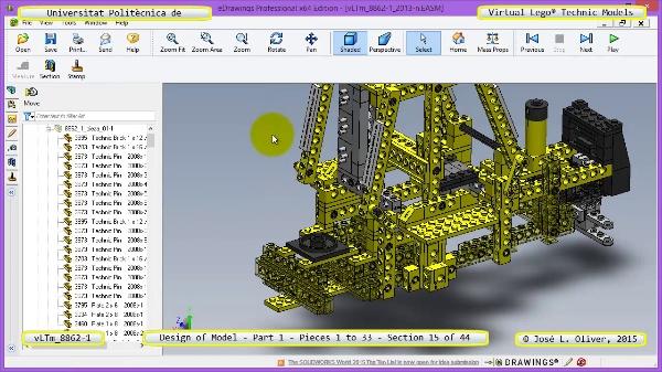 Creación Virtual Modelo Lego Technic 8862-1 ¿ Pieza 1 ¿ 15 de 44