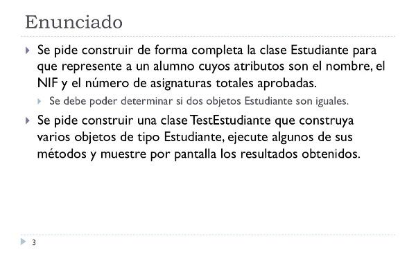 [IIP-OA] Implementación de la clase Estudiante en Java