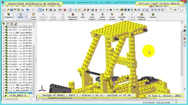 Creación Virtual Modelo Lego Technic 8862-1 ¿ Pieza 1 ¿ 37 de 44