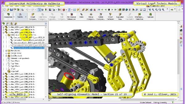 Simulación Cinemática Lego Technic 8459-2 con Cosmos Motion ¿ 21 de 29
