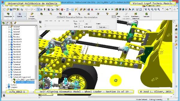 Simulación Cinemática Modelo Lego Technic 8862-1 -Cargador- 15 de 19