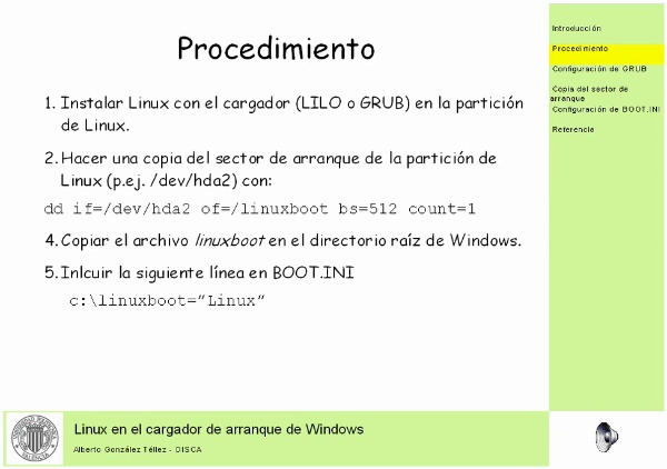Linux en el cargador de arranque de Windows