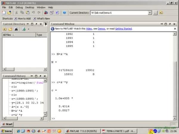 Tema 6. Aproximación mínimo-cuadrática. Recta de regresión (y 2). Regresión parabólica. Condicionamiento de una matriz.