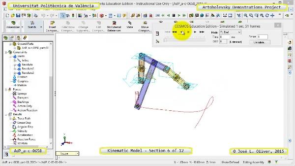 Simulación Mecanismo a-c-0658 con Cosmos Motion - 06 de 12