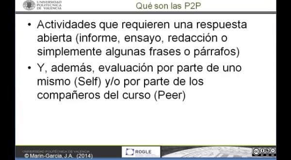 EdX- envío de P2P (preguntas de respuesta abierta evaluadas por compañeros)