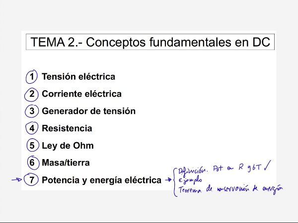2.7.3.- Potencia. Teorema de conservación de la energía