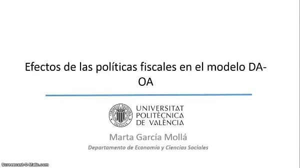 La demanda y la oferta agregadas: políticas fiscales