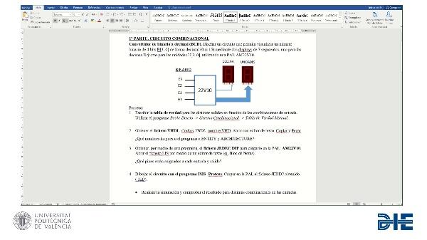 Electrónica Digital. Práctica 7. Diseño combinacional con PLD.