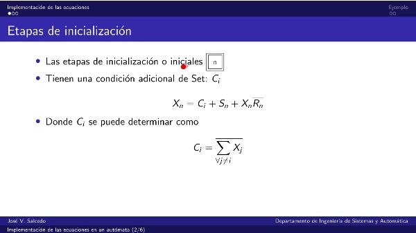 Implementación de las ecuaciones de un Grafcet en un autómata
