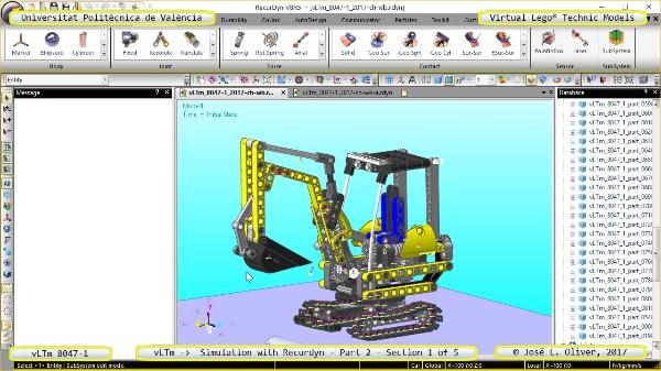 Simulación Cinemática Lego Technic 8047-1 con Recurdyn - Parte 2 ¿ 1 de 5