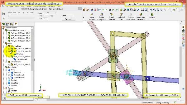 Creación Virtual y Simulación Mecanismo a-z-1138 con Cosmos Motion - 10 de 12