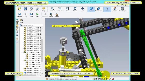 Montaje Modelo Lego Technic 8459-2 con Solidworks ¿ 05 de 15