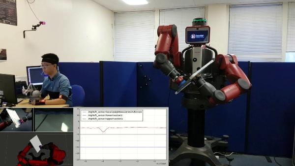 Dual-Arm Teleoperation Combining Haptics and Motion Capture: Individual Task