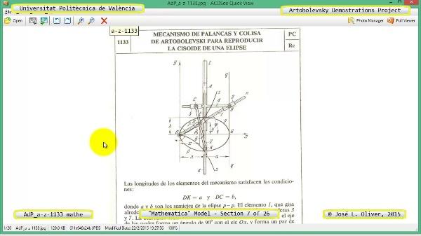 Solución Cinemática Simbólica a-z-1133 con Mathematica - 07 de 26