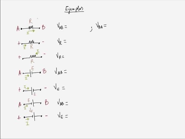 Teoría de Circuitos: 2.8.2.- Ejemplos de ley de Ohm