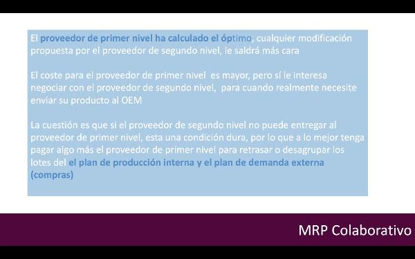 MRP Colaborativo Ejemplo de Aplicación