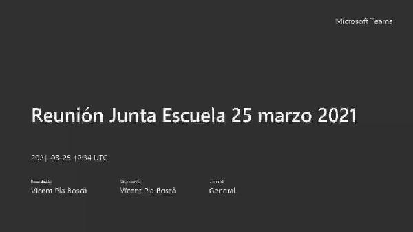 JdC 15 marzo 2021. Informe del director