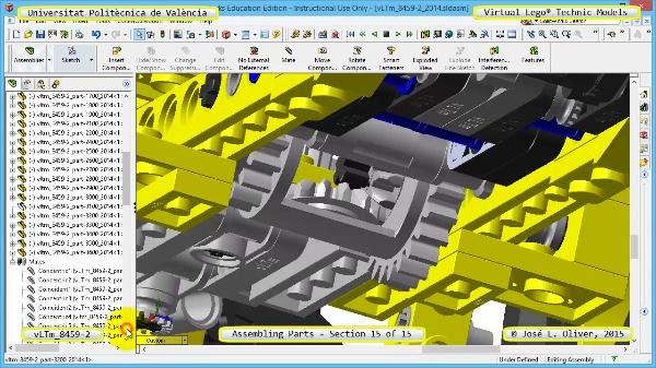 Montaje Modelo Lego Technic 8459-2 con Solidworks ¿ 15 de 15