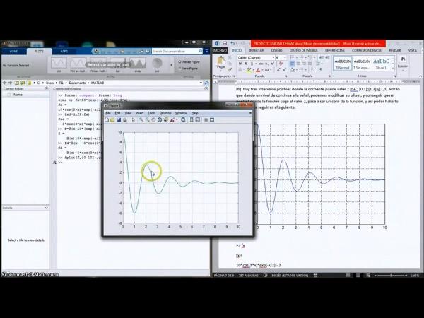Búsqueda del tiempo en un circuito para determinados valores de corriente o voltaje.