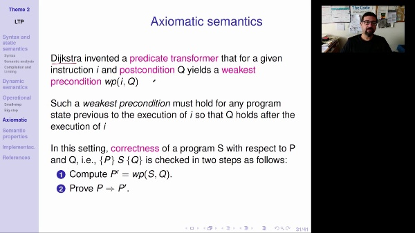 LTP - Unit 2 - Axiomatic semantics