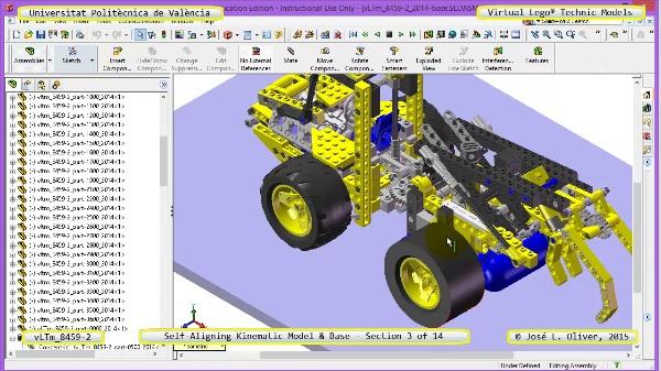 Simulación Dinámica Lego Technic 8459-2 sobre Base ¿ 03 de 14