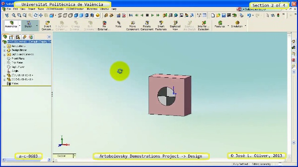 Creación Virtual Mecanismo a_c_0683 con Solidworks ¿ 2 de 4