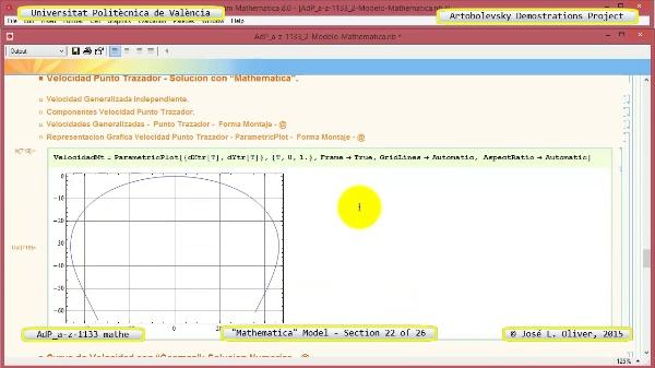 Solución Cinemática Simbólica a-z-1133 con Mathematica - 22 de 26