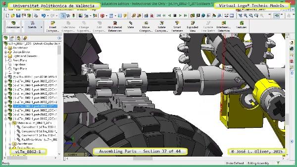 Creación Virtual Modelo Lego Technic 8862-1 ¿ Montaje Modelo ¿ 37 de 44
