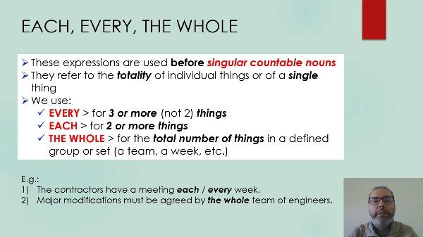 Technical English - quantifiers
