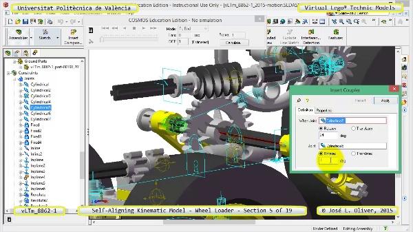 Simulación Cinemática Modelo Lego Technic 8862-1 -Cargador- 05 de 19