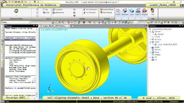 Simulación Dinámica de Cargadora Volvo L70C con Recurdyn V8R5 - 08 de 10