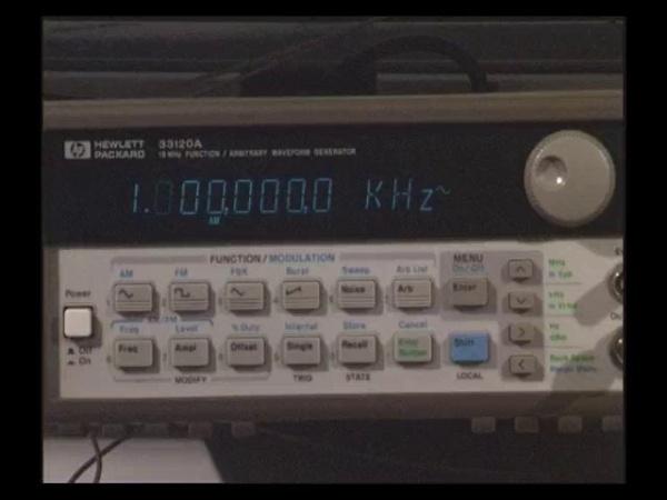 Cómo Modular con el Generador de funciones HP33120A