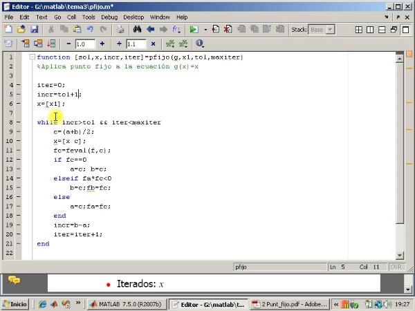 Tema 3. F(x)=0. El método de punto fijo (2/3).