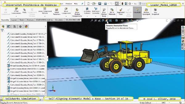 Simulación Dinámica de Cargadora Volvo L70C con Solidworks Motion v2017 - 14 de 16